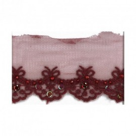 BRODERIE/TULLE STRASS PAI