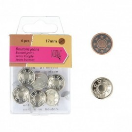 BOUTONS JEANS 17mm*6 sets