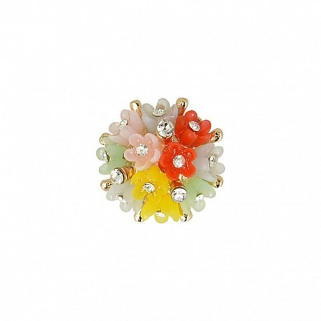 BOUTON BOUQUET STRASS