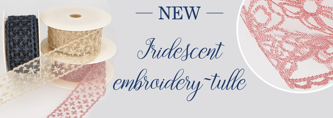 New - Iridescent embroidery- tulle