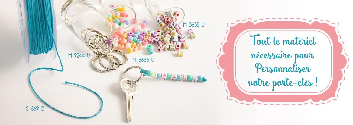 Tout le matériel nécessaire pour Personnaliser votre porte-clés !