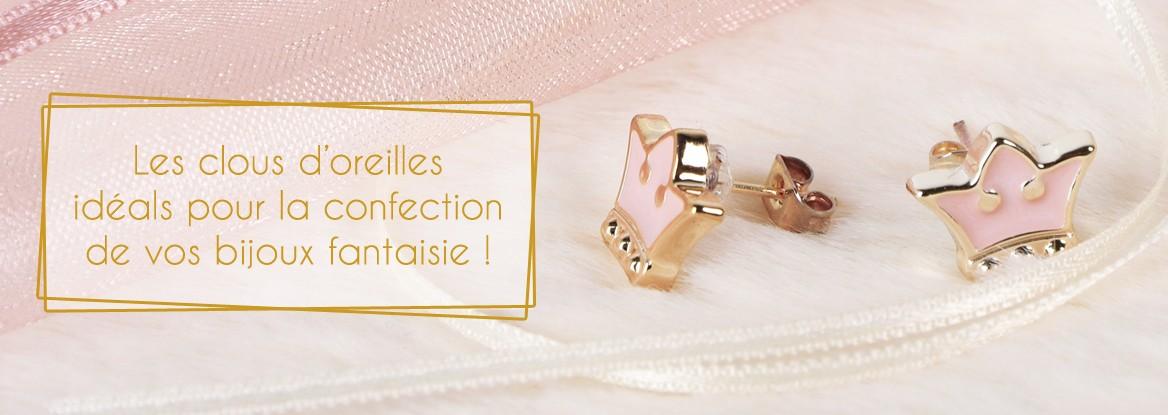Les clous d'oreilles idéals pour la confection de vos bijoux fantaisie !